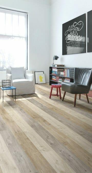 Decoración de interiores con suelos de parquet o tarima flotante